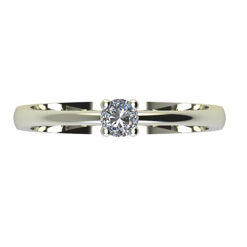 Годежен Пръстен бяло злато с диамант Cante 0,07 ct. 2228 a
