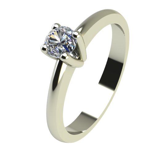 Годежен Пръстен бяло злато с диамант Cante 0,07 ct. 2228