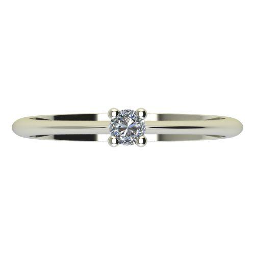Годежен Пръстен бяло злато с диамант Cante 0,07 ct. 2246 a