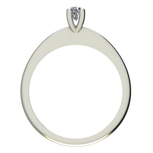 Годежен Пръстен бяло злато с диамант Cante 0,07 ct. 2246 b