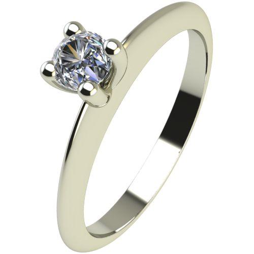 Годежен Пръстен бяло злато с диамант Cante 0,07 ct. 2246