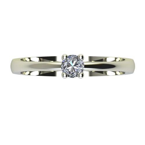 Годежен Пръстен бяло злато с диамант Cante 0,12 ct. 2229 a