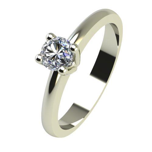 Годежен Пръстен бяло злато с диамант Cante 0,12 ct. 2229