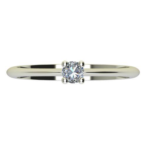 Годежен Пръстен бяло злато с диамант Cante 0,12 ct. 2247 a
