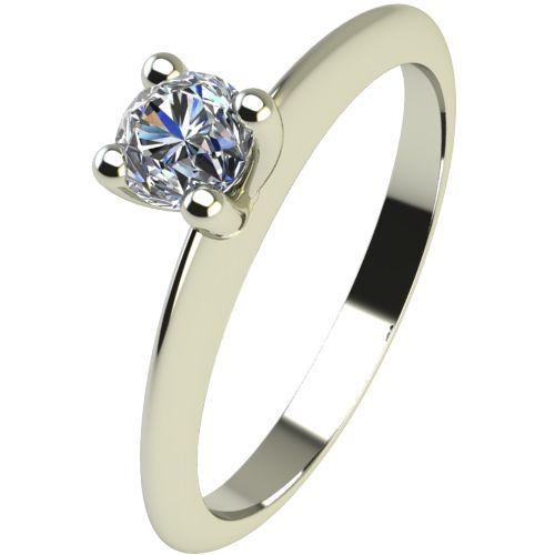 Годежен Пръстен бяло злато с диамант Cante 0,12 ct. 2247