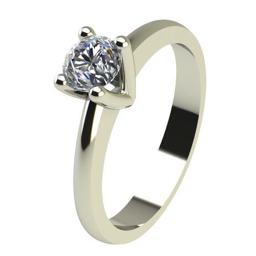Годежен Пръстен бяло злато с диамант Cante 0,17 ct. 2230
