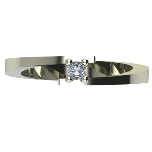 Годежен Пръстен бяло злато с диамант Close 0,04 ct. 2234 a