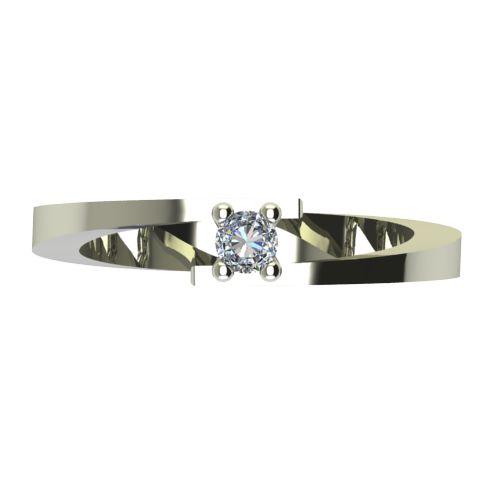 Годежен Пръстен бяло злато с диамант Close 0,07 ct. 2235 a