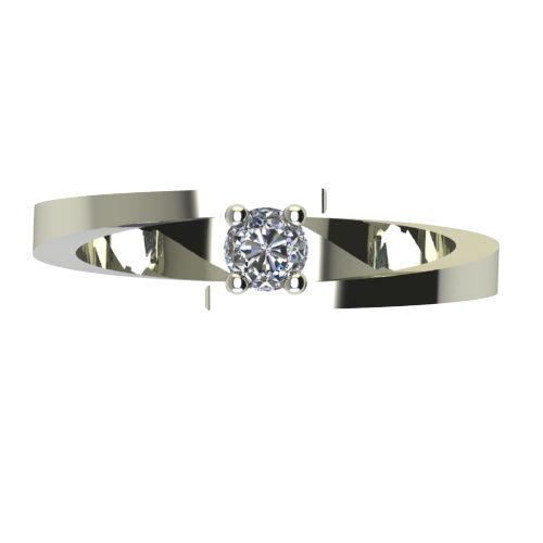 Годежен Пръстен бяло злато с диамант Close 0,12 ct. 2236 a