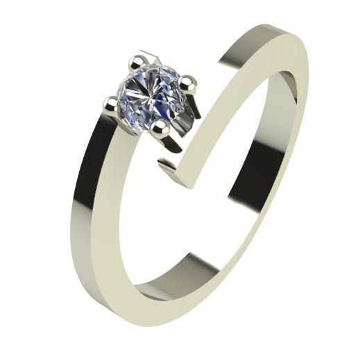 Годежен Пръстен бяло злато с диамант Close 0,12 ct. 2236
