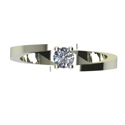Годежен Пръстен бяло злато с диамант Close 0,17 ct. 2237 a