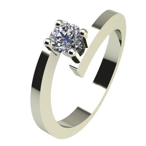 Годежен Пръстен бяло злато с диамант Close 0,17 ct. 2237