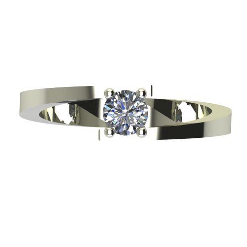 Годежен Пръстен бяло злато с диамант Close 0,25 ct. 2238 a