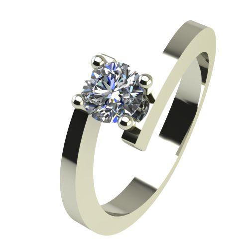 Годежен Пръстен бяло злато с диамант Close 0,25 ct. 2238