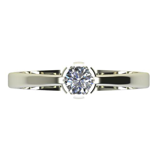 Годежен Пръстен бяло злато с диамант Flores 0,25 ct. 2232 a