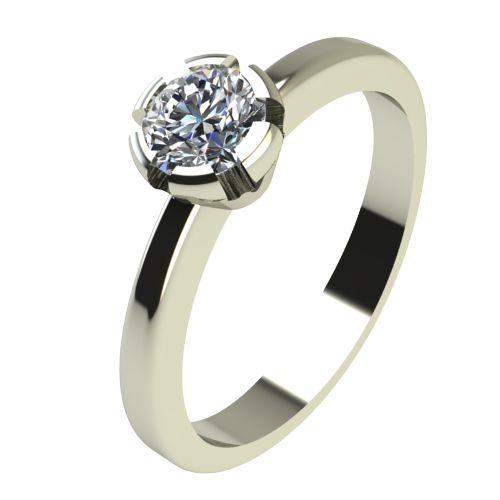 Годежен Пръстен бяло злато с диамант Flores 0,25 ct. 2232