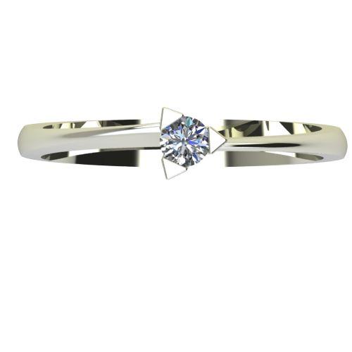 Годежен Пръстен бяло злато с диамант Form 0,12 ct. 2251 a