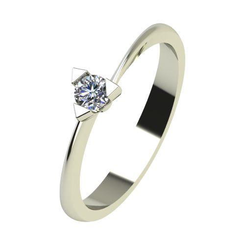 Годежен Пръстен бяло злато с диамант Form 0,12 ct. 2251