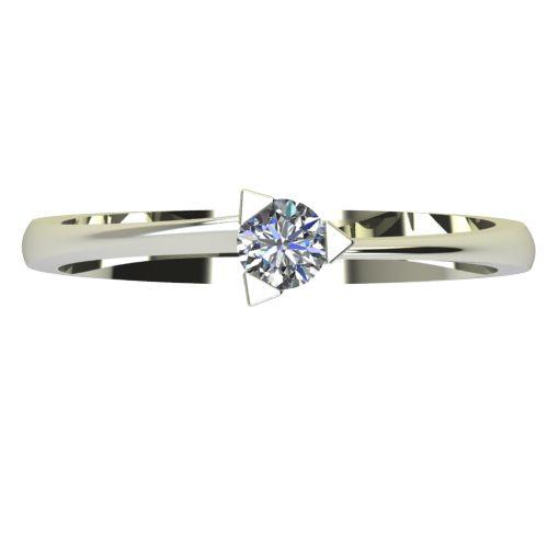 Годежен Пръстен бяло злато с диамант Form 0,17 ct. 2252 a