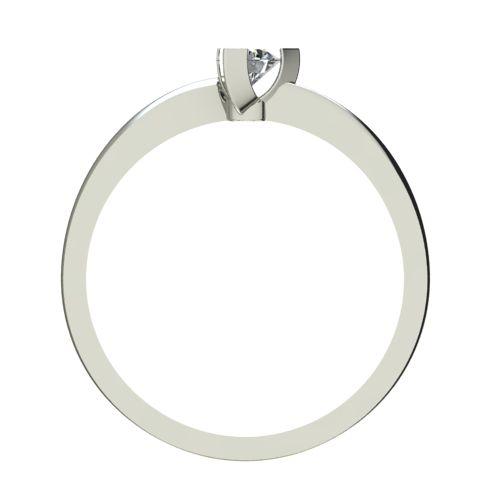 Годежен Пръстен бяло злато с диамант Form 0,17 ct. 2252 b