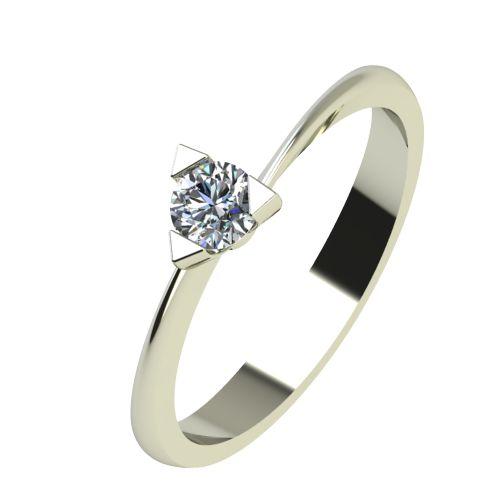 Годежен Пръстен бяло злато с диамант Form 0,17 ct. 2252