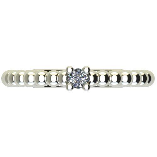 Годежен Пръстен бяло злато с диамант Garland 0,04 ct. 2260 a