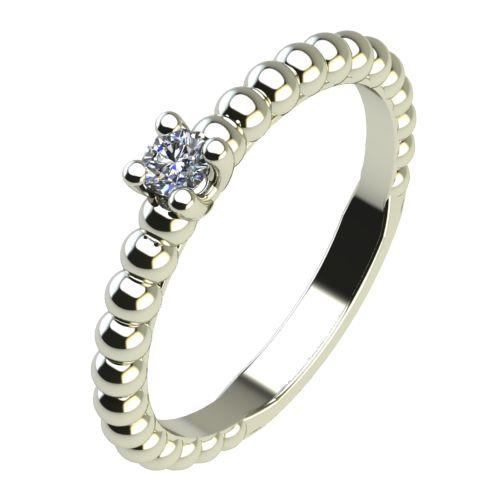 Годежен Пръстен бяло злато с диамант Garland 0,04 ct. 2260