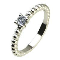 Годежен Пръстен бяло злато с диамант Garland 0,07 ct. 2261