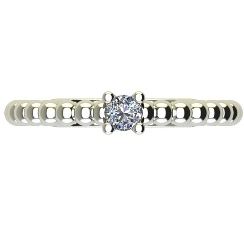 Годежен Пръстен бяло злато с диамант Garland 0,07 ct. 2261 a