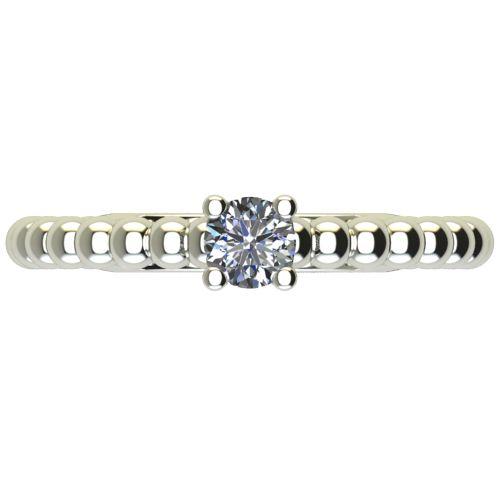Годежен Пръстен бяло злато с диамант Garland 0,12 ct. 2262 a