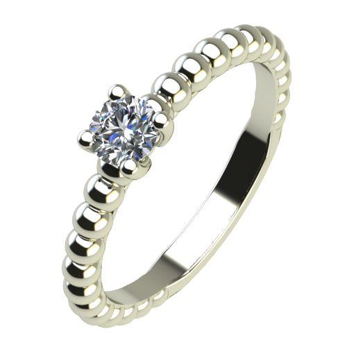 Годежен Пръстен бяло злато с диамант Garland 0,12 ct. 2262