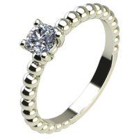 Годежен Пръстен бяло злато с диамант Garland 0,17 ct. 2263