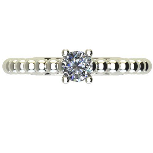 Годежен Пръстен бяло злато с диамант Garland 0,17 ct. 2263 a