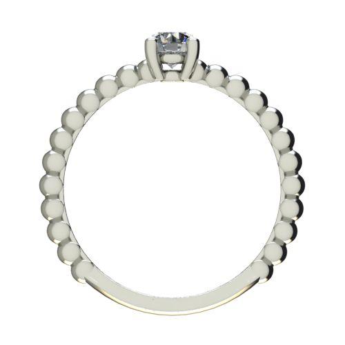 Годежен Пръстен бяло злато с диамант Garland 0,17 ct. 2263 b