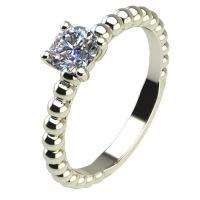 Годежен Пръстен бяло злато с диамант Garland 0,25 ct. 2264