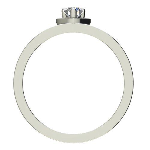 Годежен Пръстен бяло злато с диамант Heart 0,12 ct. 2220 b