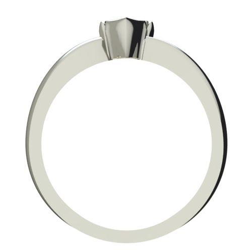 Годежен Пръстен бяло злато с диамант Heart 0,12 ct. 2253 b
