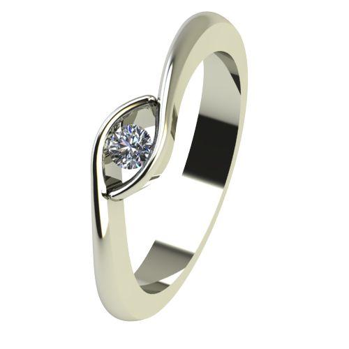 Годежен Пръстен бяло злато с диамант Mini 0,04 ct. 2255
