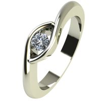 Годежен Пръстен бяло злато с диамант Mini 0,07 ct. 2256