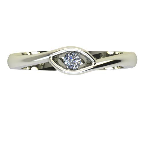 Годежен Пръстен бяло злато с диамант Mini 0,07 ct. 2256 a