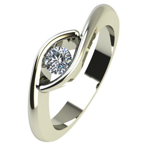 Годежен Пръстен бяло злато с диамант Mini 0,12 ct. 2257