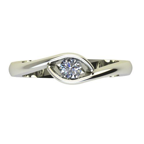 Годежен Пръстен бяло злато с диамант Mini 0,17 ct. 2258 a