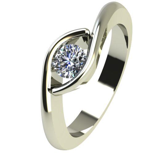 Годежен Пръстен бяло злато с диамант Mini 0,17 ct. 2258