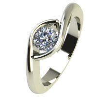 Годежен Пръстен бяло злато с диамант Mini 0,25 ct. 2259