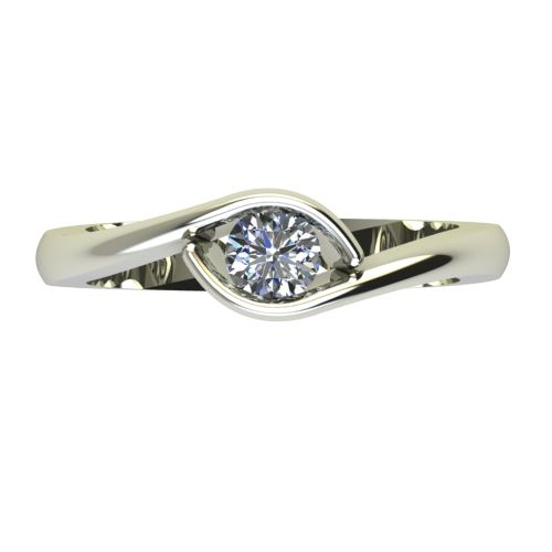 Годежен Пръстен бяло злато с диамант Mini 0,25 ct. 2259 a