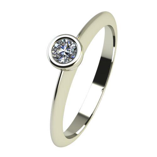 Годежен Пръстен бяло злато с диамант Moon 0,07 ct. 2223