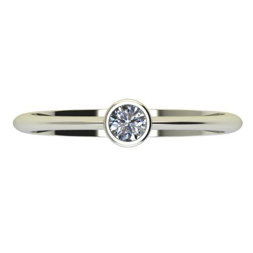 Годежен Пръстен бяло злато с диамант Moon 0,12 ct. 2224 a