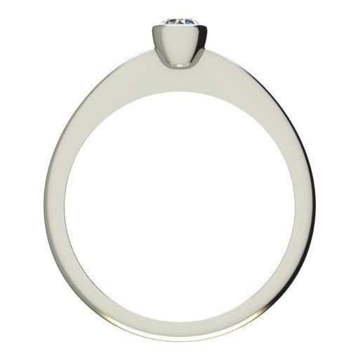 Годежен Пръстен бяло злато с диамант Moon 0,12 ct. 2224 b