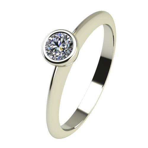 Годежен Пръстен бяло злато с диамант Moon 0,12 ct. 2224