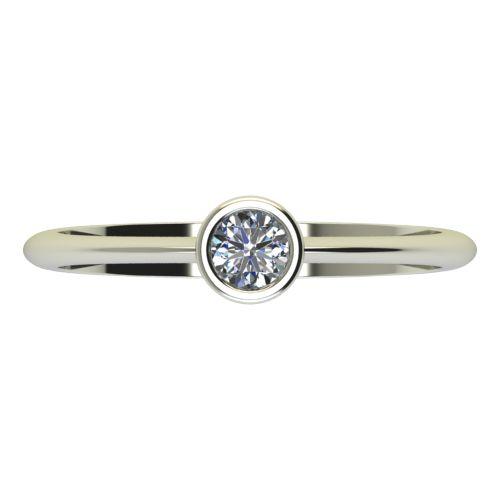 Годежен Пръстен бяло злато с диамант Moon 0,17 ct. 2225 a